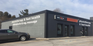 Wefixu Cobourg Office Exterior with windows and signs and parked car