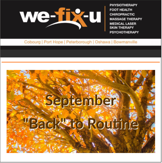 Sep 2019 Newsletter – All of Your Wellness Needs Under One Roof