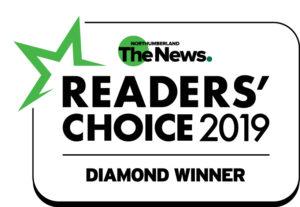 northumberland 2019 readers choice award winner badge